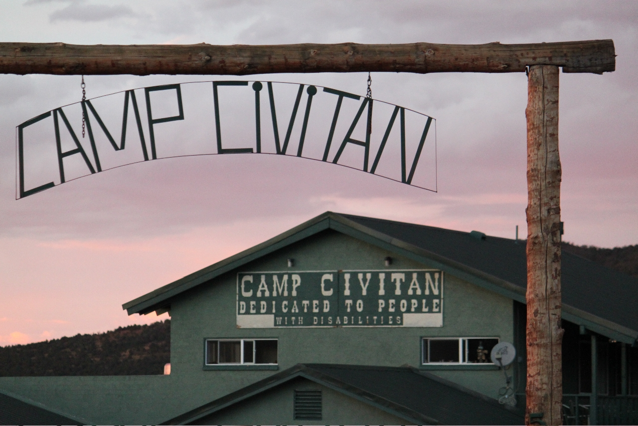 An outdoor gate at Camp Civitan.