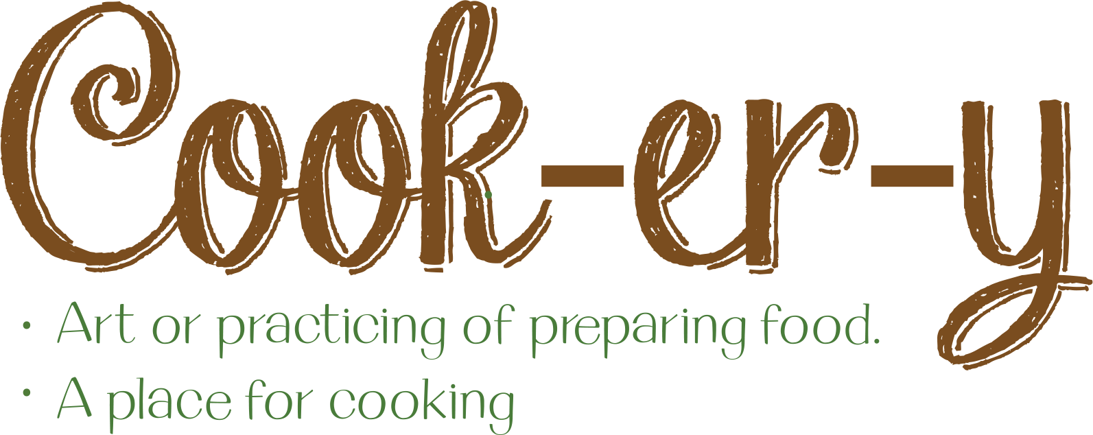 The logo for the Cookery catering program.